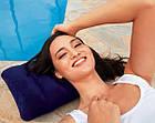 Подушка надувная Intex Pillow синяя 43х28х9 см подушка для путешествий, фото 6
