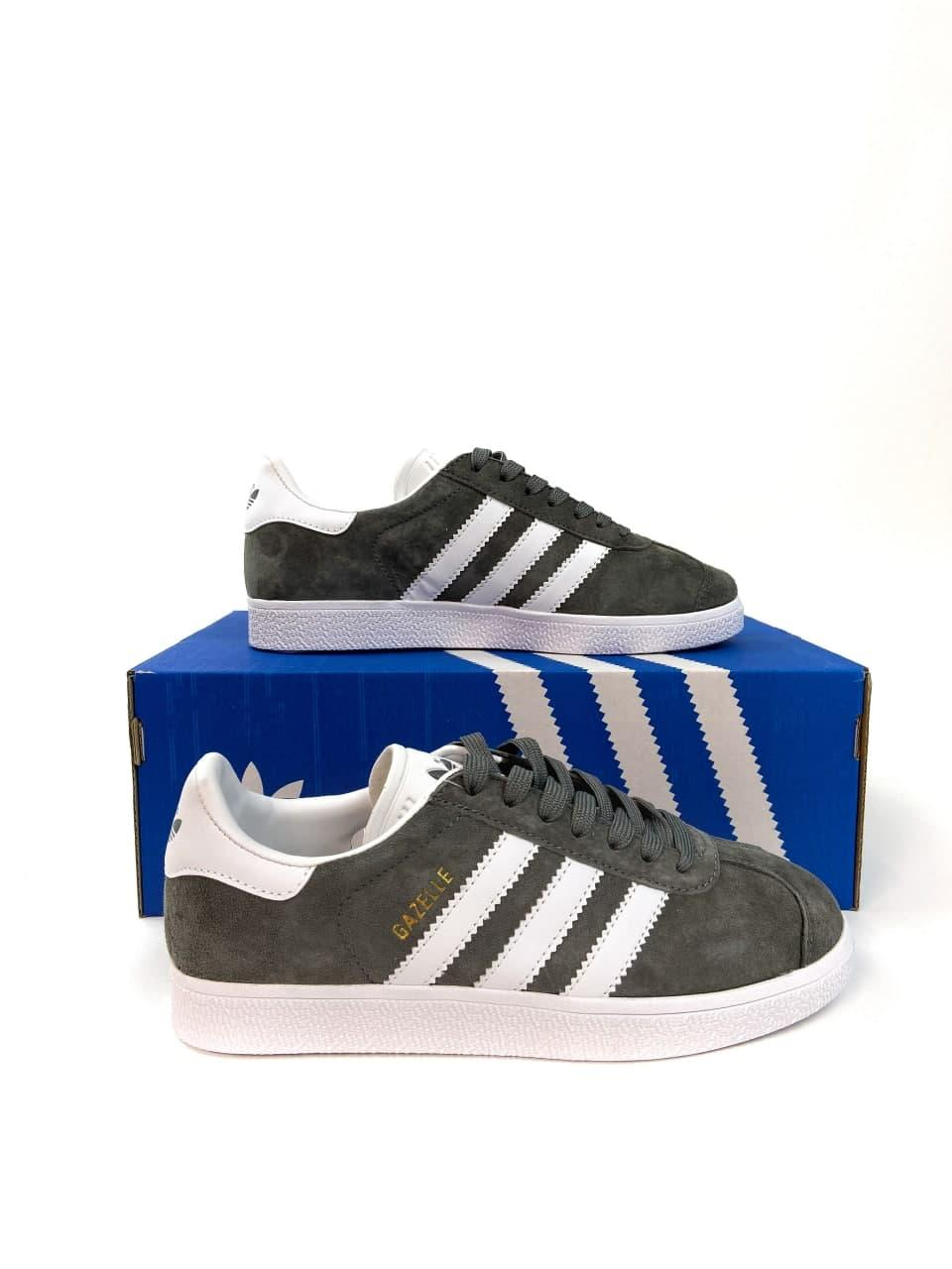Женские кроссовки Adidas Gazelle Grey (копия)