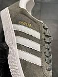Женские кроссовки Adidas Gazelle Grey (копия), фото 10
