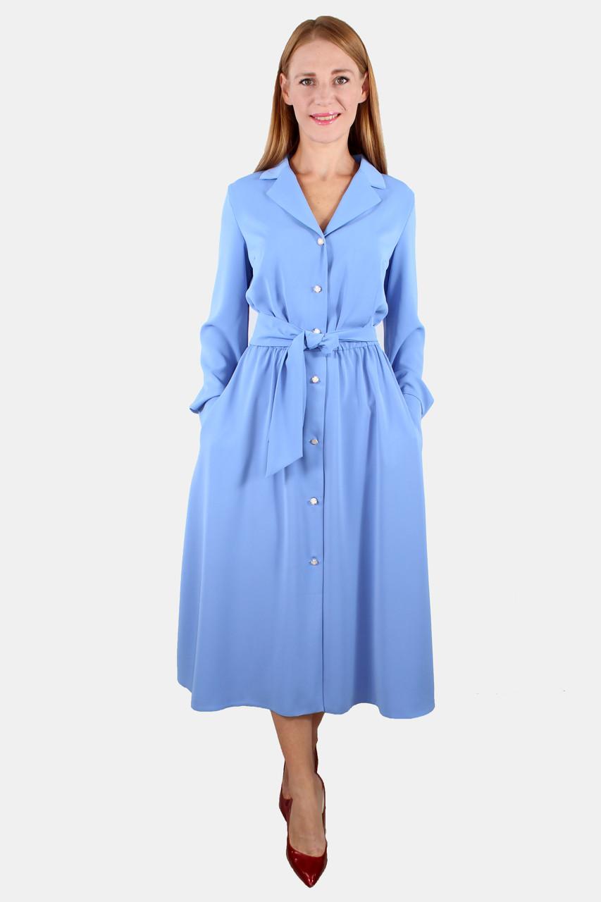 Шелкоевое платье на пуговицах 44-50 р ( разные цвета )