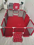 Манеж дитячий великий ігровий IMBABY 190 х 129 х 66 див. Сухий басейн. Великий місткий манеж, фото 2