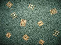 Зеленый ковролин Крета на войлочной основе, фото 1