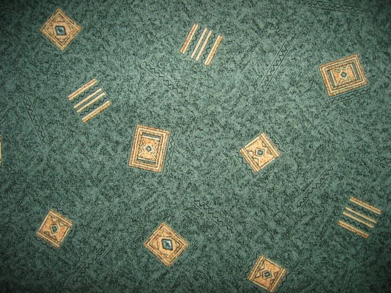 Зеленый ковролин Крета на войлочной основе