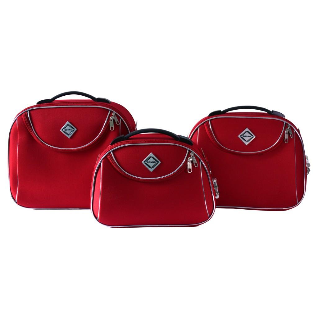Сумка кейс саквояж 3в1 Bonro Style червона