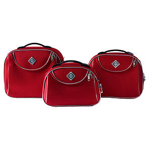 Сумка кейс саквояж 3в1 Bonro Style червона, фото 2