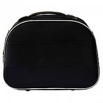 Сумка кейс саквояж Bonro Style (середня) чорно-т. синя, фото 3