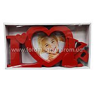 Мультирамка LOVE  пластиковая,коллаж (рамки для фотографий на стену) 1/10х10 см.
