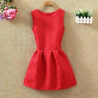 Платье женское жаккардовое красное