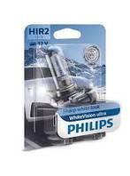 Лампа фары HIR2 WhiteVision ultra 12V 55W PX22d (+60%) (3700K) (Philips)
