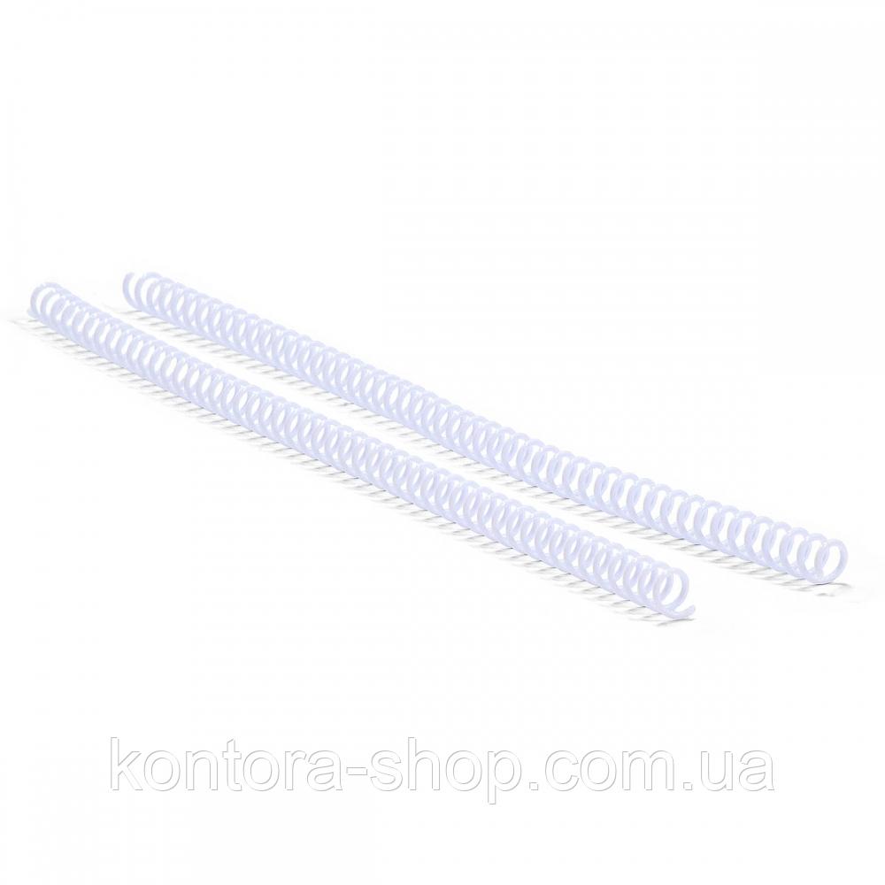 Спираль пластиковая А4 25 мм (4:1) белая, 50 штук