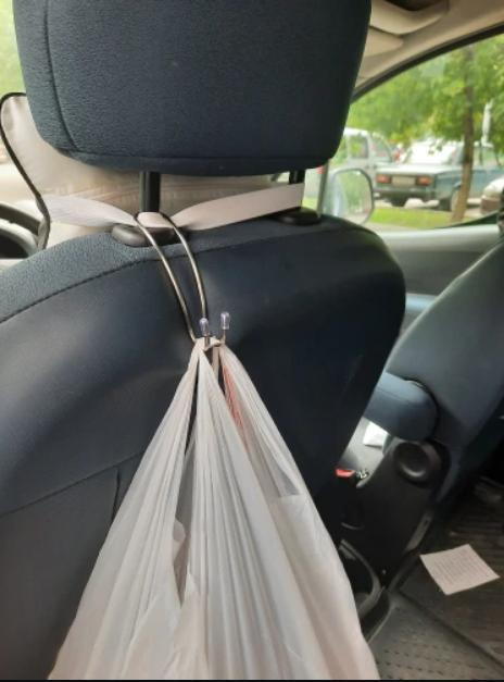 Автомобільний металевий тримач гачок вішалка для підголівника автомобіля