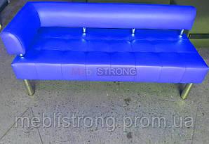 Диван для офиса Стронг (MebliSTRONG) без подлокотника 7 - синий глянцевый цвет