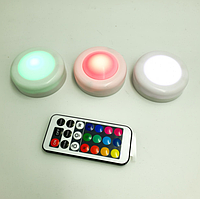 LED подсветка Светодиодные фонари Лампы для дома 3 шт Magic Lights с пультом | Бесплатная доставка!