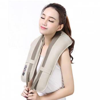Универсальный вибромассажёр ударный Cervical Massage Shawls для спины, плеч и шеи