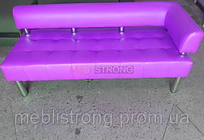 Диван для офиса Стронг (MebliSTRONG) без подлокотника Г - фиолетовый матовый цвет