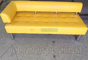 Диван для офиса Стронг (MebliSTRONG) без подлокотника 7 - желтый матовый цвет