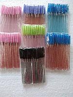 Щеточи нейлоновые  с блестками для ресниц и бровей оптом (50шт/уп), фото 3