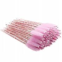 Щеточи нейлоновые  с блестками для ресниц и бровей оптом (50шт/уп), фото 9