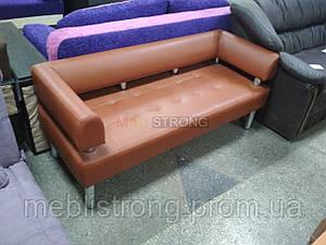 Диван для офиса Стронг (MebliSTRONG) - коричневый матовый цвет