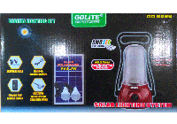 Солнечная система освещения GD Lite 8566. Солнечная батарея, USB
