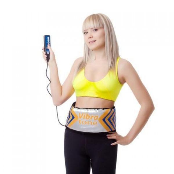 Пояс вибромассажер для похудения Vibro Tone пояс для похудения и подтяжки мышц