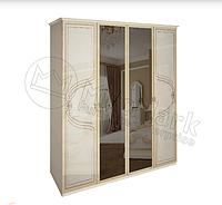 Шкаф 4 дв, Спальня Мартина, радика беж, МИРОМАРК