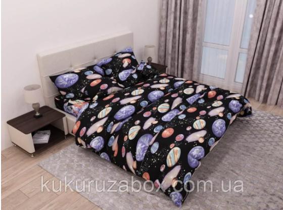 Двуспальный комплект  с прост. 200*220 «Галактика» из бязи голд