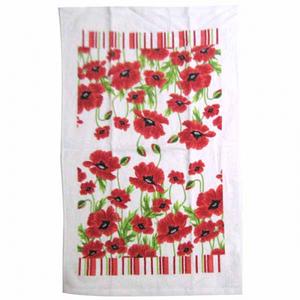 Полотенце кухонное ширина - 50, длинна - 68 см, хлопок Красный мак SNT 93201-3