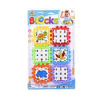 """Куб логический Y 86-3 (144/2) """"Математика+животные"""", пазлы-вкладыши, на листе"""
