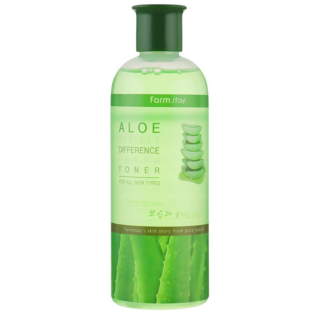 Освіжаючий тонер для обличчя з алое Farmstay Aloe Visible Difference Fresh Toner 350 мл (8809426957248)