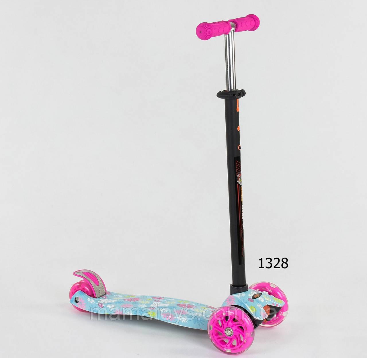 Детский трехколесный Самокат А 25530 /779-1328 Best Scooter Макси 4 кол. PU, светятся