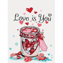 Картина за номерами Ідейка Love is you КНО5526