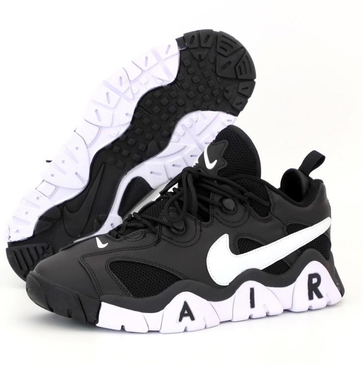 Кроссовки мужские Nike Air Barrage Low Junior Black. Живое фото. Реплика