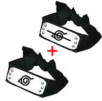 Набор 2 повязок Наруто с символикой Деревни Скрытой В Листве