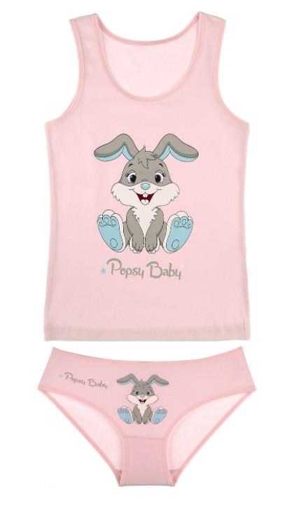 """Комплект """"Кролик"""", 2-3 года (рост 98-104), цвет розовый"""