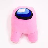 Мягкая игрушка Among Us (Амонг ас), детская игрушка персонаж космонавт, розовая, 35 см, для детей, видео обзор