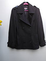 Чорне пальто кашемірове весна – осінь Розмір 38 ( А-52), фото 3