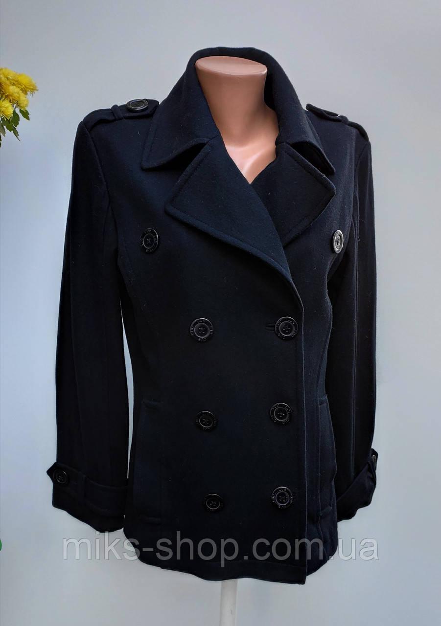 Чорне пальто кашемірове весна – осінь Розмір 38 ( А-52)