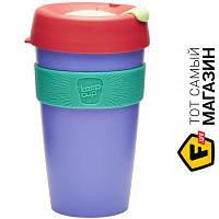 Кружка Keepcup для капучино, дорожная 454 1 шт. пластик цвет сиреневый можно мыть в посудомоечной машине, подходит для микроволновой печи