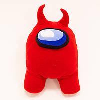 Мягкая игрушка Among Us (Амонг ас), детская игрушка персонаж космонавт, красный, 35 см, для детей, видео обзор