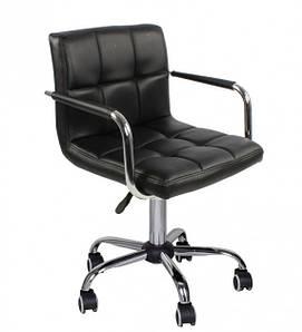 М'яке обертове крісло Артур-КО чорне на коліщатках