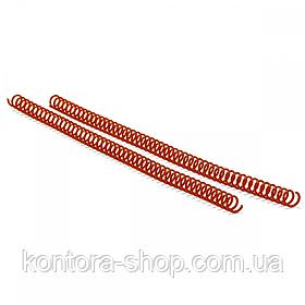 Спіраль пластикова А4 14 мм (4:1) червона, 100 штук