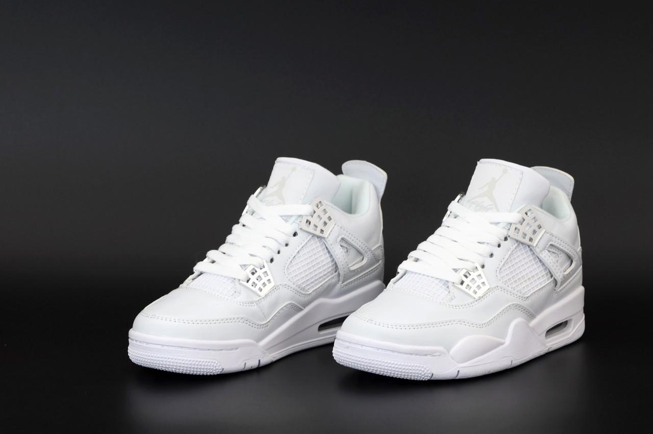 Мужские белые Кроссовки Nike Air Jordan 4 Retro