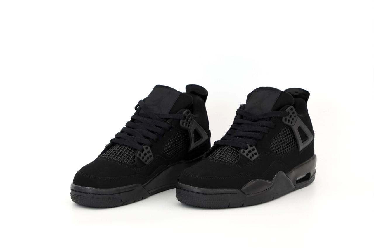 Мужские черные Кроссовки Nike Air Jordan 4 Retro