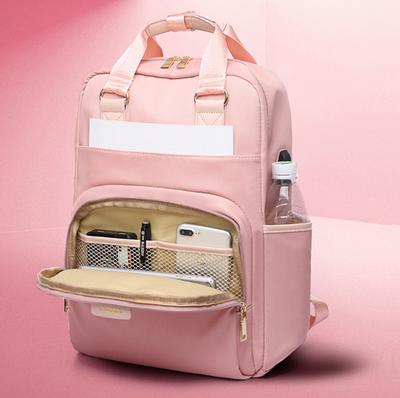Сумка-рюкзак для ноутбука Apple, Xiaomi, Asus Digital J.QMEi pink