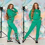 Спортивный женский костюм с декоративной шнуровкой love, фото 2