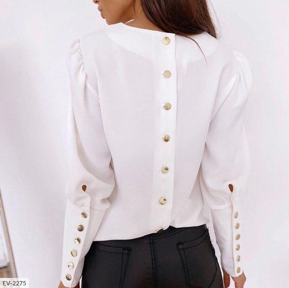 Блуза с пуговками на рукавах и спине