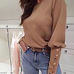 Блуза с пуговками на рукавах и спине, фото 4