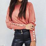 Блуза с пуговками на рукавах и спине, фото 5
