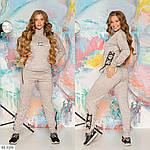 Спортивный женский костюм со шнуровкой (Батал), фото 3